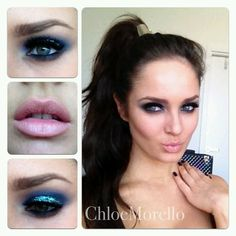 Chloe Morello Glittery Blue Smokey eye with Make Up Store Australia products, tute coming soon!! http://instagr.am/p/P2s-T5sDqs/