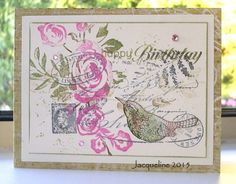 Stamped collage with Hero Arts stamps