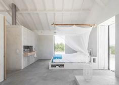 Row of stables in rural Portugal converted to create a summer retreat for a family.
