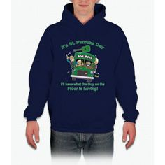 St Patricks Day Shirt - Drunk Guy On The Floor Funny Hoodie