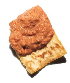 Red Pepper, Walnut, and Tahini Dip. I have made this multiple times and it is wonderful!!! Just as a side note, I only use 1/8 tsp. cayenne pepper. You can use the full 1/4 tsp. if you like it more spicy!