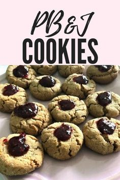 PB&J cookies recipe - Splendry #pbj #cookies #cookierecipe #dessert #peanutbutter