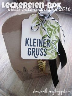 stampin up stampinwithfanny leckereien box verpackung kleiner gruss saleabration 2016 sab paarweise was ich mag framelits etiketten anhänger tags labels  bakers box flowering fiel #stampinwithfanny