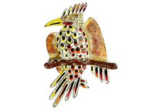 Coro Enamel Bird Pin on OneKingsLane.com