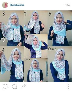 Pointy hijab style is very hype in Indonesia. This tutorial is so simple and easy to follow.  Credit to: @dheashiendra on Instagram (she makes awesome hijab tutorials!)