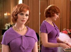 """Christina Hendricks as Joan Harris on """"Mad Men""""—our vote for best dressed character."""