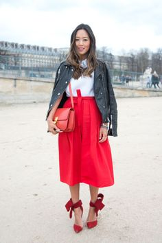 22 fresh street style looks to inspire your Valentine's Day outfits: