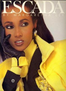 Escada at Luxury & Vintage Madrid , the best online selection of Luxury Clothing , Accessories , Pre-loved with up to discount Supermodel Iman, Iman Model, 80s Fashion, Vintage Fashion, Couture Fashion, Fashion Models, High Fashion, Black Supermodels, 80s Trends