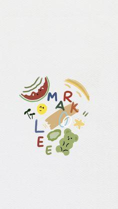 Mark Lee, Dark Wallpaper, Iphone Wallpaper, Nct Dream, Cute Cartoon Wallpapers, Pattern Wallpaper, Nct 127, Aesthetic Wallpapers, Overlays