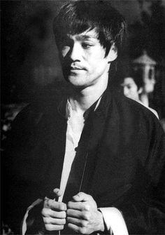 rare photo here of Bruce Lee
