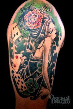 Tattoo Gueisha New School