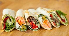 Ithink I'll make myself acouple right now! Ten delicious and healthy wraps you can take to work.
