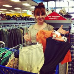 These #Goodwill finds will transform into runway masterpieces! Round 2 of #ThriftOffSA!