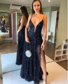 Boho Prom Dresses, Long Prom Dresses, Beautiful navy blue Evening Party Dresses, you be the star of your own prom by offering you hundreds of options for your perfect 2020 prom dress! Tight Prom Dresses, Beautiful Prom Dresses, Mermaid Prom Dresses, Homecoming Dresses, Evening Dresses, Formal Dresses, Dresses Dresses, Blue Dresses, Sequin Party Dress