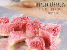 glaçons arrangés !!! étape 6: congelés vos cubes de fruits #cuisine #fooding #strangefroots #glaçon #icecube