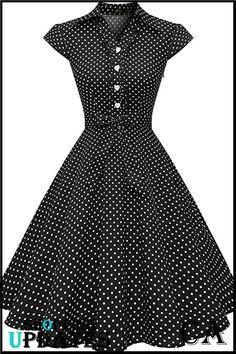 Perfect for rockabilly pinup wedding prom party, punk swing polka prom, lolita costume cosplay club wear,thanksgiving day and christmas party, vintage weekend or goodwood revival WedTrend Women's Retro Rockabilly Dress Cap Sleeve Vintage Swing Dress Vintage Party Dresses, Vintage Outfits, Dress Vintage, Stylish Dresses, Casual Dresses, Skirt Fashion, Fashion Dresses, Dress Outfits, Retro Mode