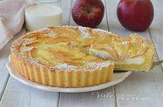 CROSTATA DI MELE ALLA CREMA DI PANNA ricetta dolce alle mele, con ricotta fresca, morbida, profumata e golosissima, una ricetta di Vale Cucina e Fantasia