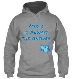 Music is Always the Answer (w/drum set) | Teespring