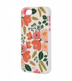 Rifle Paper Co. Botanical Rose iPhone 5 Case with Inlay now available!! #riflepaper #riflepaperiphone
