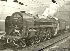 David Heys steam diesel photo collection - 91 - BR BRITANNIA CLASS 7 - 2 Live Steam Locomotive, Train Drawing, Robert Burns, Steam Railway, Liverpool Street, Abandoned Train, British Rail, Steam Engine, Birmingham