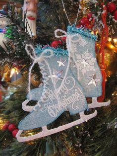 Ice Skates Ornament - Annettes Creative Journey