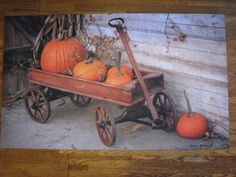 It's that time of year again.  Our Pumpkin Wagon Floor Mat - Irvin Hoover will welcome your guests.  http://www.primitivestarquiltshop.com/Pumpkin-Wagon-Floor-Mat--Irvin-Hoover_p_7293.html