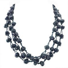 Metallic Mermaid - Black bead necklace – Jc & Crew Crochet Necklace, Beaded Necklace, Jewelry Necklaces, Mermaid, Metallic, Beads, Clothes For Women, Beaded Collar, Beading
