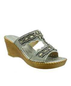 Another great find on #zulily! Pewter Morocco Wedge #zulilyfinds