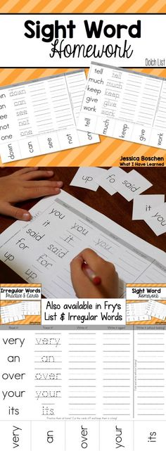This is so Embarrassing Do your students struggle to learn their sight words? This resource has helped my students learn sight words and shown parents how to help at home. Send home one page per week. Students read it, trace it, write it and Fry Sight Words, Teaching Sight Words, Dolch Sight Words, Sight Word Practice, Sight Word Activities, Teaching Writing, Children Activities, Academic Writing, Teaching Strategies