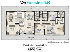 The Homestead 189 is one of our acreage home floor plans.