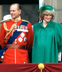 Nine days before she gave birth to Prince William, Princess Diana watched Trooping the Colour with Prince Philip from the balcony at Buckingham Palace.