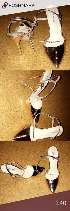 Ankle strap pumps Rose gold/ gold pumps Steve Madden Shoes Heels