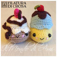 Bomboniere Dolcettini realizzate con filato Zara, Zarina, Principessa, Excellent Baby, Alpaca Filatura di Crosa #handmade #kawaii #amigurumi #crochet