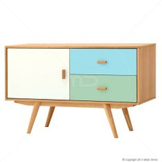 Yes please... Sofia Sideboard - Scandinavian Furniture - White, Blue & Green - Milan Direct