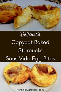 Starbucks sous vide egg bites are a favorite breakfast treat. However, they tend… Starbucks sous vide egg bites are a favorite breakfast treat. However, they tend to be a little pricey, so I found a way to bake them at home. Wanna try it? Starbucks Sous Vide Eggs, Starbucks Egg Bites, Starbucks Recipes, Starbucks Breakfast, Starbucks Hacks, Starbucks Coffee, Coffee Recipes, Sous Vide Recipes Eggs, Egg Recipes