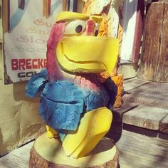 Carved Jayhawk from Breckenridge, CO via @tloku on instagram