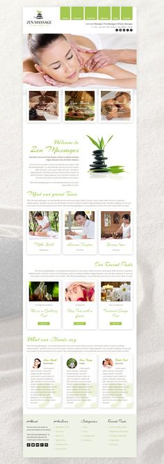 Zen - is a new WordPress Theme specially for massage salons, but also for all other beauty salons. It's unique design is perfect for all massage center related websites.