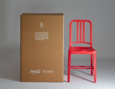 111 Navy Chair  Made from 111 Recycled Coca Cola Bottles  by Emeco