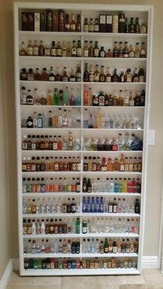 My collection of 284 mini bottles of alcohol                              …