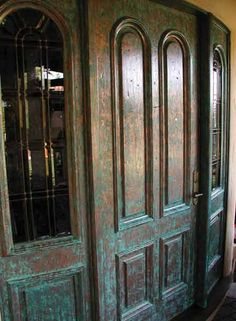 Copper patina doors - lovely!