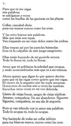 Pablo Neruda - V da Poesia d'amore e di vita -per Il sasso nello stagno di AnGre - http://ilsassonellostagno.wordpress.com/2014/05/11/pablo-neruda-da-poesie-damore-e-di-vita-perche-tu-possa-ascoltarmi-v/
