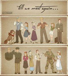 Till We Meet Again - Character Outfits by xxMeMoRiEzxx (Frozen AU FanFic art)