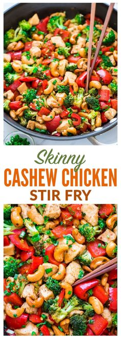 Skinny Honey Thai Cashew Chicken Ready in 20 minutes! Juicy chicken, crisp veggies, and the best sweet and savory sauce Easy, healthy recipe perfect for busy weeknights Recipe at wellplatedcom Well Plated - # Asian Recipes, New Recipes, Cooking Recipes, Recipies, Best Dinner Recipes Ever, Healthy Chinese Recipes, Cashew Recipes, Clean Eating Recipes For Dinner, Heart Healthy Recipes