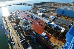 View of HMS Queen Elizabeth fropm the Goliath crane Nov 10 by QEClassCarriers, via Flickr