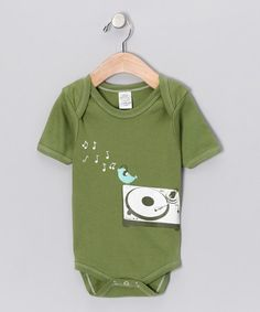 Take a look at this Green DJ Bird Organic Bodysuit - Infant by Urban Smalls on #zulily today!