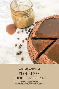Delicious Cake Recipes, Yummy Cakes, Yummy Food, Other Recipes, Whole Food Recipes, Salted Caramel Sauce, Flourless Chocolate Cakes, Melting Chocolate Chips, Dairy Free Recipes