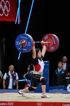 48 Women, Olympic Weightlifting, London2012    三宅宏実選手  クリーン&ジャークの試技