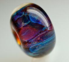Large hole handmade glass bead Euro fit designed to fit trollbeads bracelets best seller blue velvet