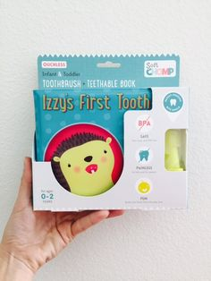 Seriously the best brushing solution for teething babies and toddlers! Soft Chomp patent-pending ouchless teething toothbrush + teethable books make brush time fun, engaging, and pain-free for little ones AND their parents!