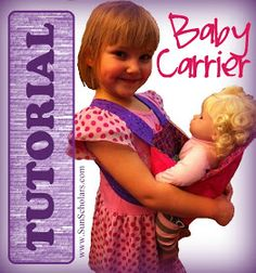 Sun Scholars: Baby Doll Carrier Tutorial, this one without snaps, Velcro, or buttons! Thanking it may be easier for Ada?